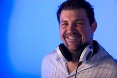 Smiling DJ Royalty Free Stock Image