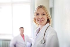 Smiling doctor royalty free stock photos