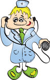 Smiling doctor. Vector illustration of smiling doctor Royalty Free Stock Photography