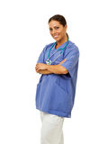 Smiling Doctor with arms crossed Stock Image