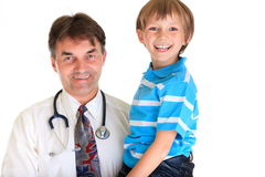 Smiling doctor and boy Royalty Free Stock Photo