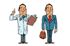 Smiling doctor and businessman Stock Photo