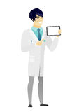 Smiling doctor holding tablet computer. Stock Photography
