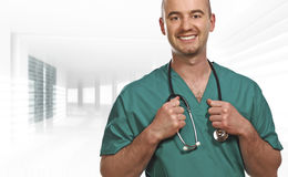 Smiling doctor indoor Royalty Free Stock Photos