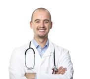 Smiling doctor isolated on white Royalty Free Stock Photos