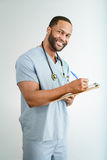 Smiling Doctor or Male Nurse Portrait Royalty Free Stock Images
