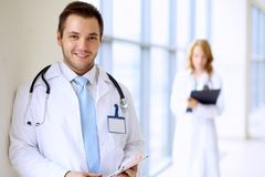Smiling doctor man Royalty Free Stock Images