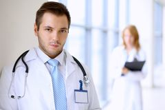 Smiling doctor man Royalty Free Stock Photography