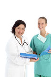 Smiling doctor and nurse Royalty Free Stock Photography