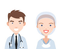 Smiling doctor and nurse Royalty Free Stock Photos