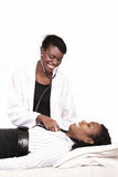 Smiling doctor with patient Royalty Free Stock Photo