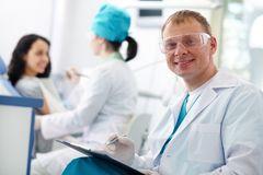 Successful dentist Royalty Free Stock Image