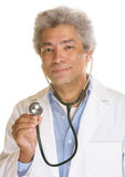 Smiling Doctor with Stethescope Royalty Free Stock Images