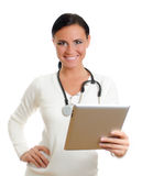 Smiling doctor with tablet pc. Stock Photography
