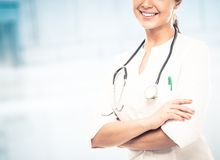 Smiling doctor woman Royalty Free Stock Photo