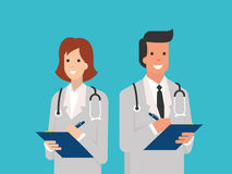 Smiling doctors Royalty Free Stock Image