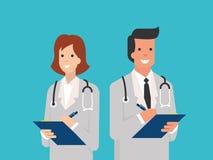Smiling doctors royalty free illustration