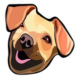 Smiling dog vector portrait vector illustration