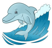 Smiling dolphin jumping 4 Royalty Free Stock Image