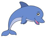 Smiling dolphine stock illustration