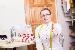 Smiling dressmaker Royalty Free Stock Photo