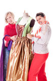 Smiling Dressmakers Stock Images