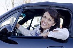 Smiling driver Stock Photos