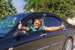 Smiling driver Royalty Free Stock Photography