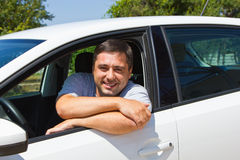 Smiling driver Stock Photography
