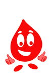 Smiling drop of blood Royalty Free Stock Image