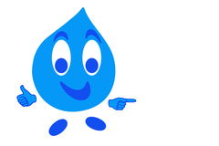 Smiling drop of water Stock Images