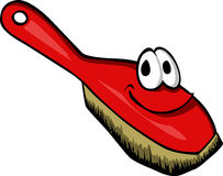 Smiling dust brush Royalty Free Stock Photography