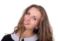 Smiling dziewczyną na Białym Background Obraz Royalty Free