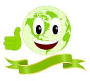 Smiling Earth Royalty Free Stock Photos