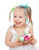 Smiling Easter Baby Girl Royalty Free Stock Photography