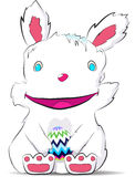 Smiling easter rabbit drawn by hand Stock Photography