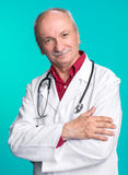 Smiling edical doctor with stethoscope Stock Images