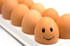 Smiling egg Stock Photos