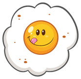 Smiling Egg Cartoon Mascot Character Royalty Free Stock Image