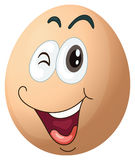 A smiling egg Royalty Free Stock Image