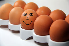 Smiling Egg Royalty Free Stock Photos