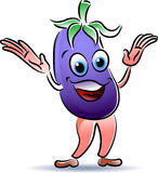Smiling eggplant Royalty Free Stock Photography