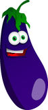 Smiling Eggplant Royalty Free Stock Photography