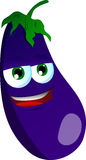 Smiling Eggplant Stock Photo