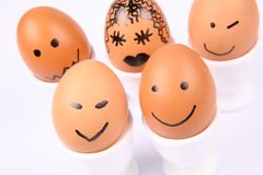 Smiling eggs Stock Image