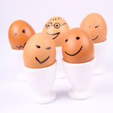 Smiling eggs Royalty Free Stock Photos