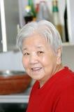 Smiling  elder lady Stock Images