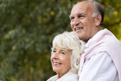 Smiling elder marriage Stock Photography