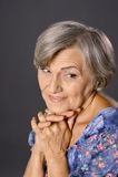 Smiling elder woman Royalty Free Stock Photos