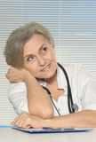Smiling elderly doctor Royalty Free Stock Photo